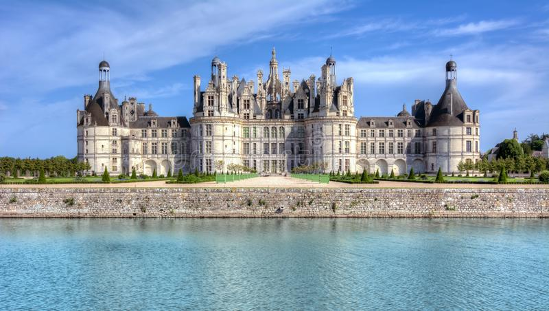 Castelo Chambord do castelo de Chambord em Loire Valley, França fotos de stock royalty free