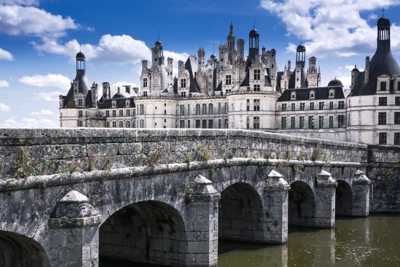 Castelo Chambord, Loir e Cher, França, o 14 de agosto de 2017, castelo Cha fotografia de stock