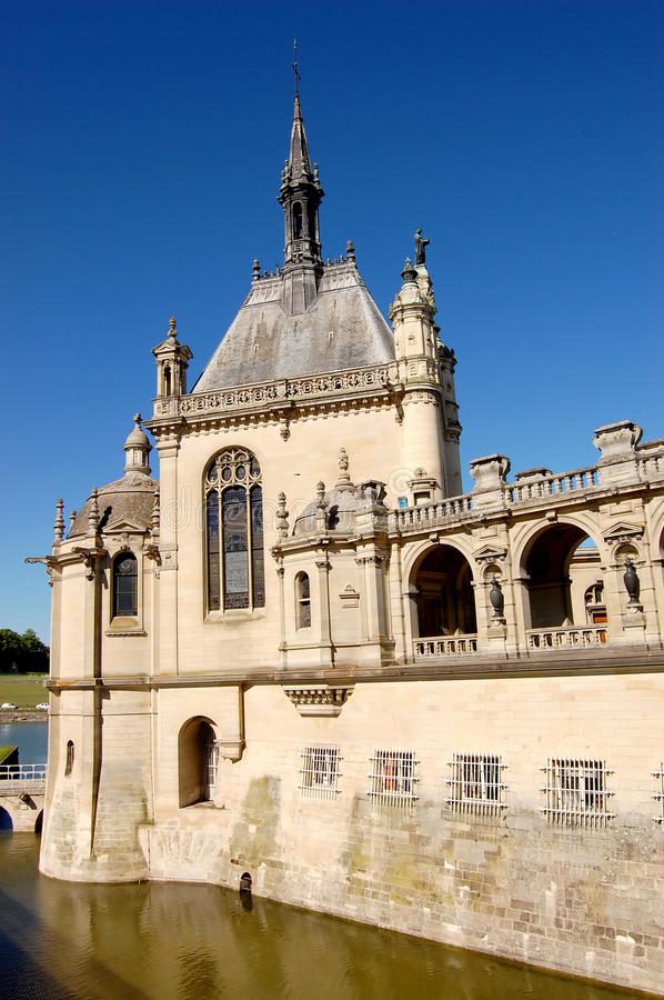 Castelo Chantilly imagem de stock royalty free