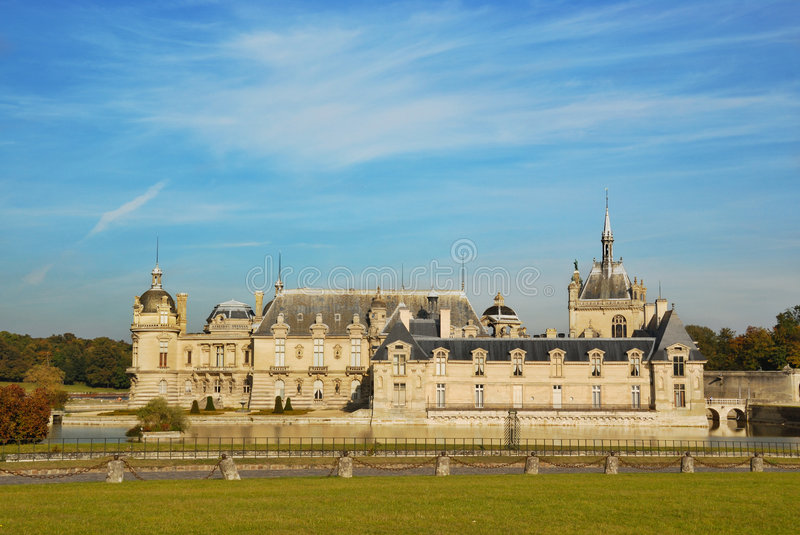 Castelo Chantilly foto de stock royalty free