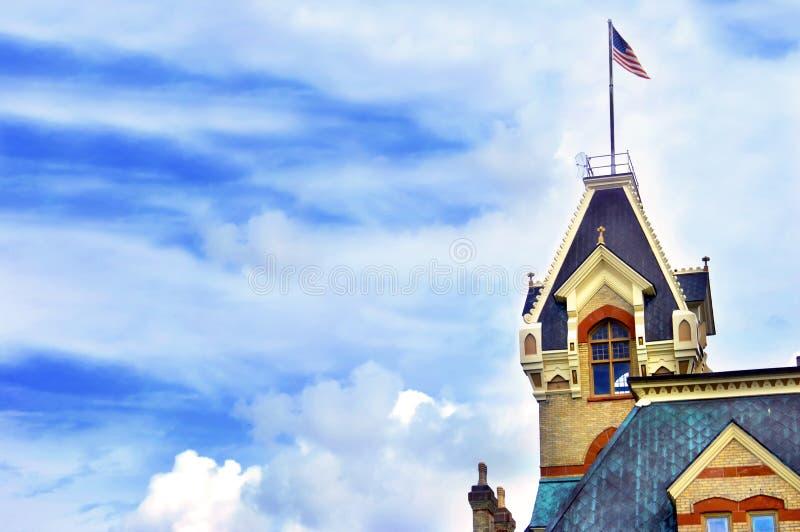 Castelo-como o tribunal imagem de stock royalty free