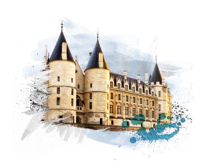 Castelo Conciergerie ilustração royalty free