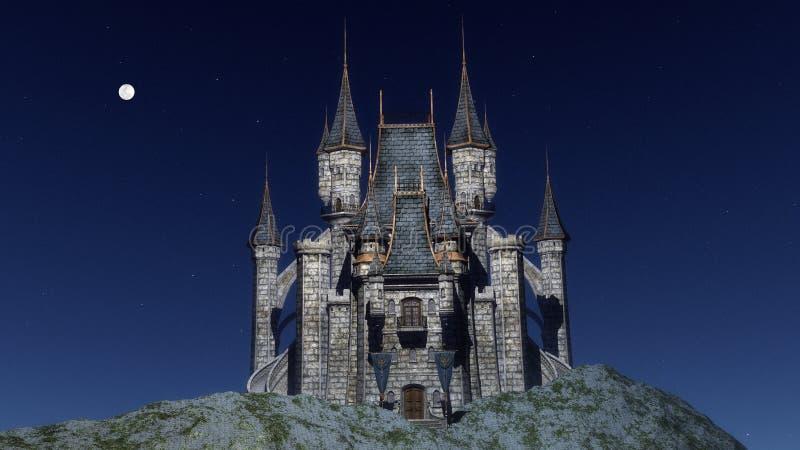 Castelo - 3D rendem ilustração stock