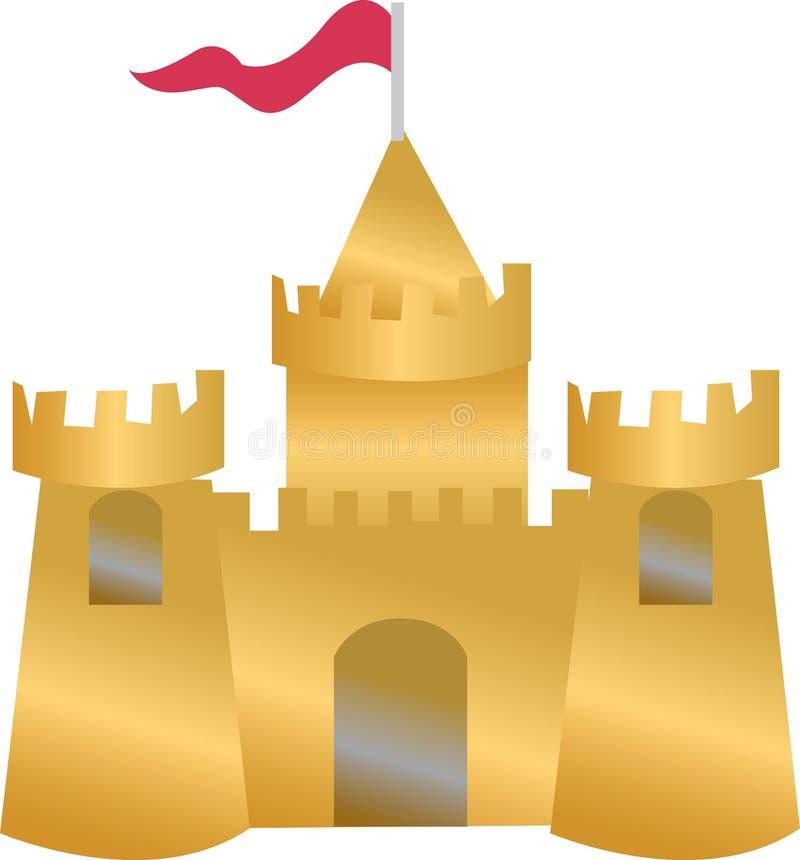 Castelo da areia ilustração stock