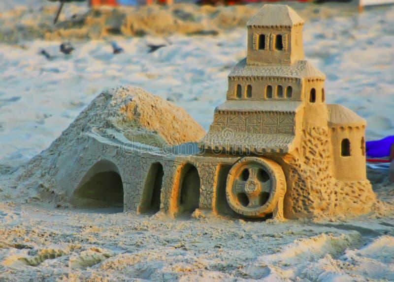 Castelo da areia foto de stock royalty free