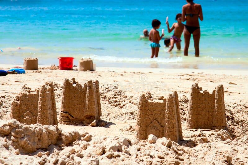 Castelo da areia, Tailândia, Krabi fotos de stock