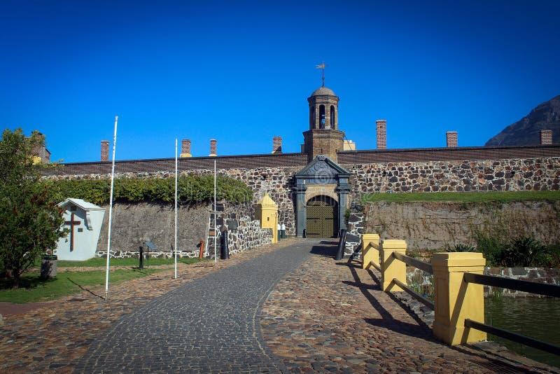 Castelo da boa opinião da esperança, Cape Town foto de stock