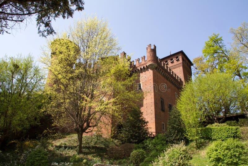 Castelo da cidade medieval, Turin, Itália imagens de stock