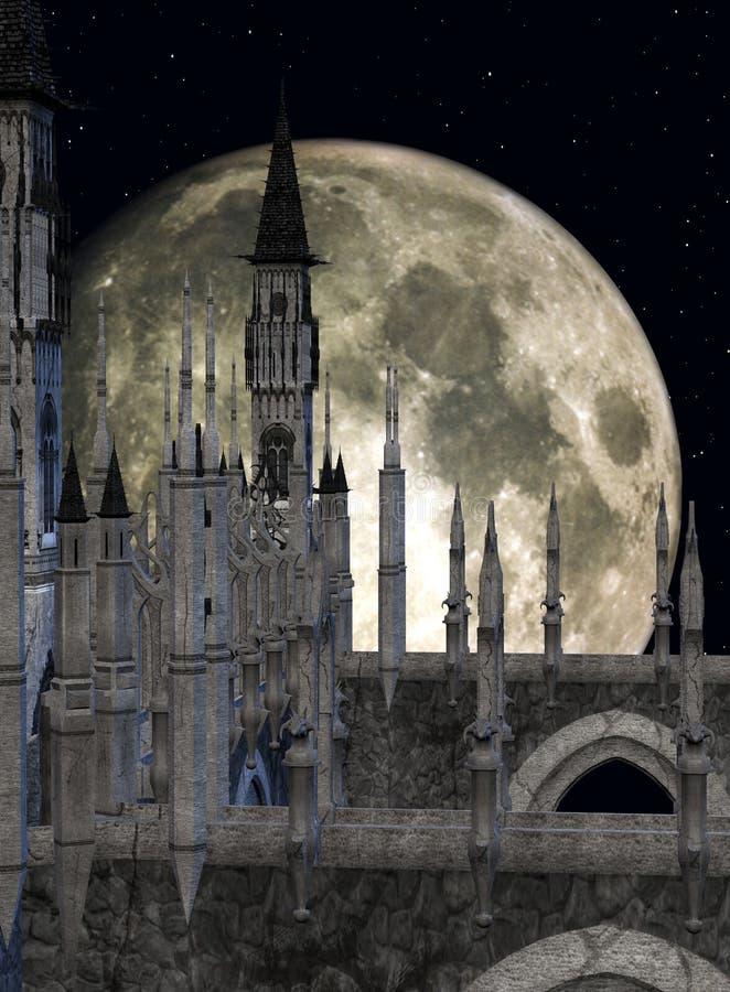 Castelo da fantasia ilustração stock