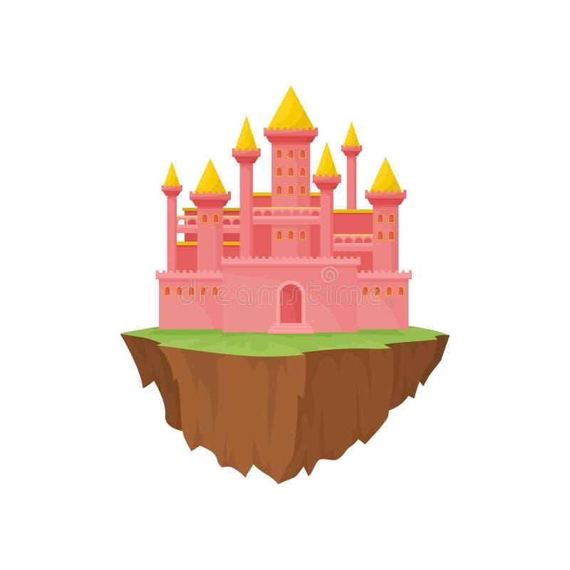 Castelo da ilha no fundo branco Ilustração do vetor ilustração royalty free