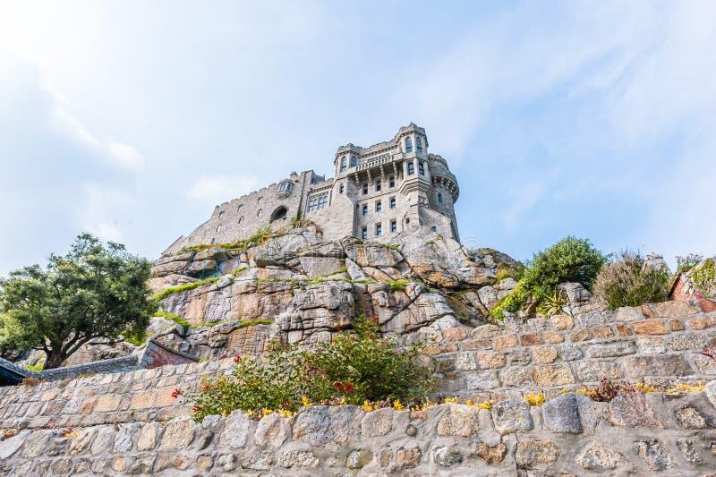 Castelo da montagem de St Michael foto de stock royalty free