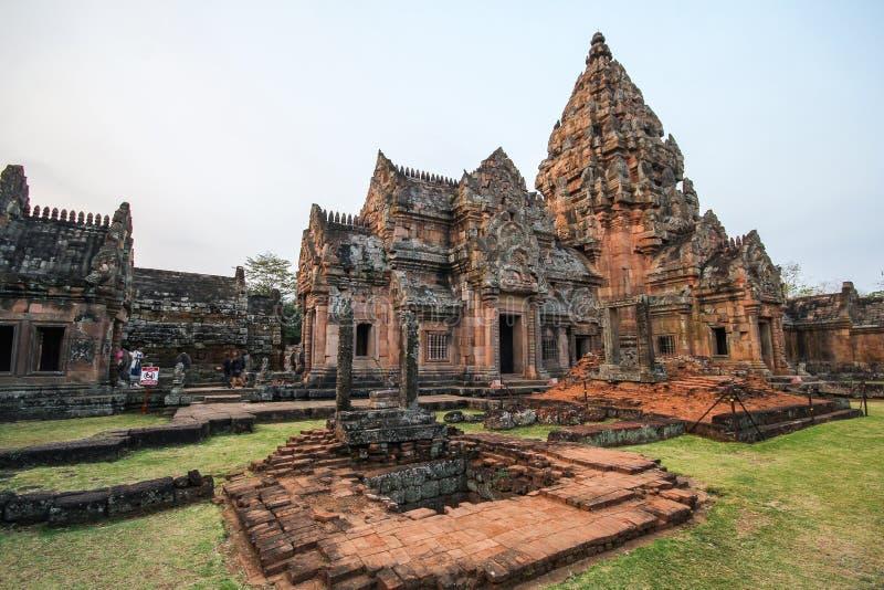 Castelo da pedra do degrau de Phanom, construção antiga imagens de stock royalty free