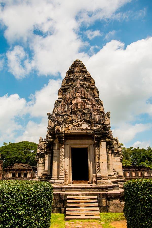 Castelo da rocha de Prasat Hin no parque histórico Nakonratchasima de Phimai imagens de stock royalty free