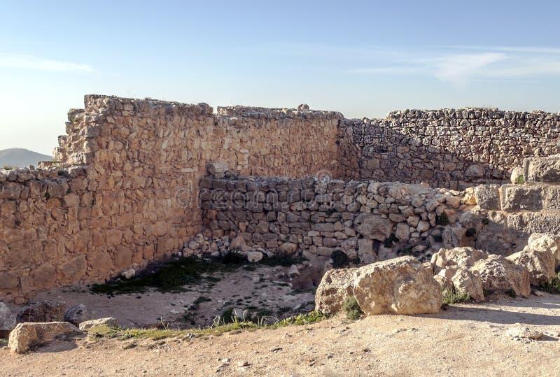 Castelo de Ajloun nas ruínas imagem de stock royalty free