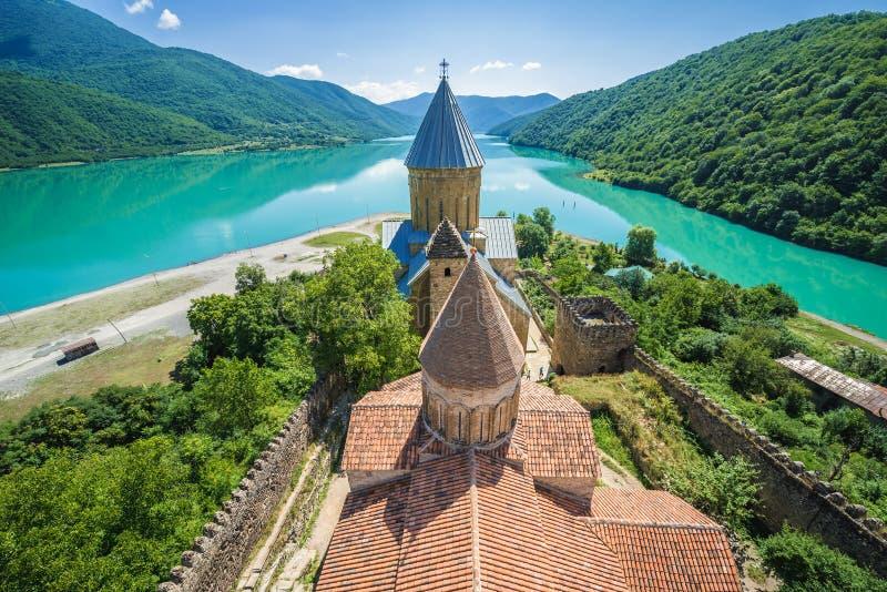 Castelo de Ananuri foto de stock royalty free