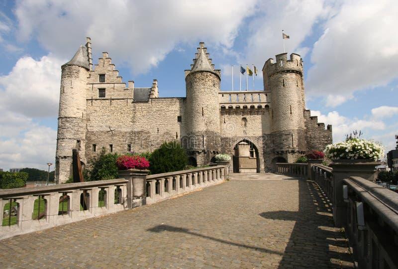 Castelo de Antuérpia fotografia de stock royalty free