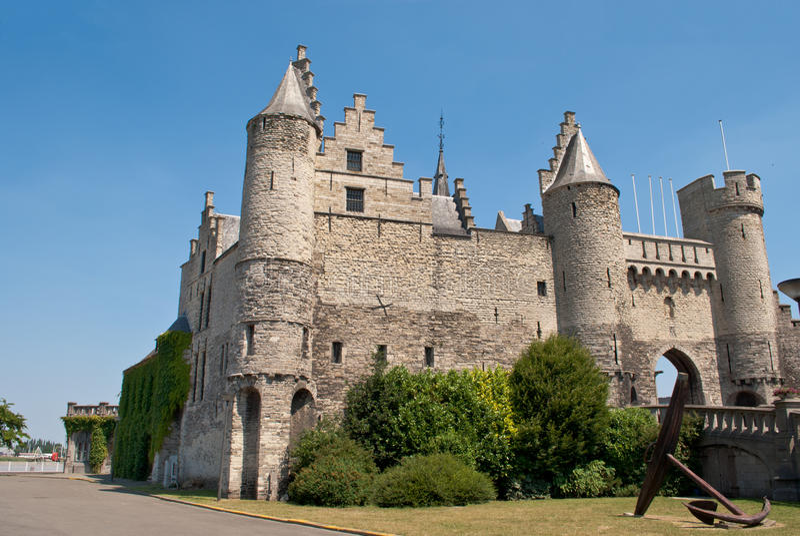 Castelo de Antuérpia fotos de stock