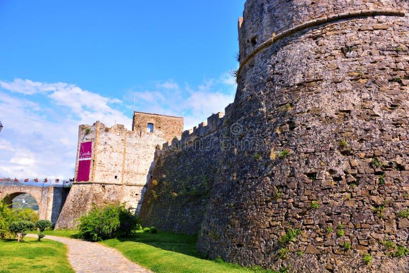 Castelo de Aragonese de Agropoli fotos de stock royalty free