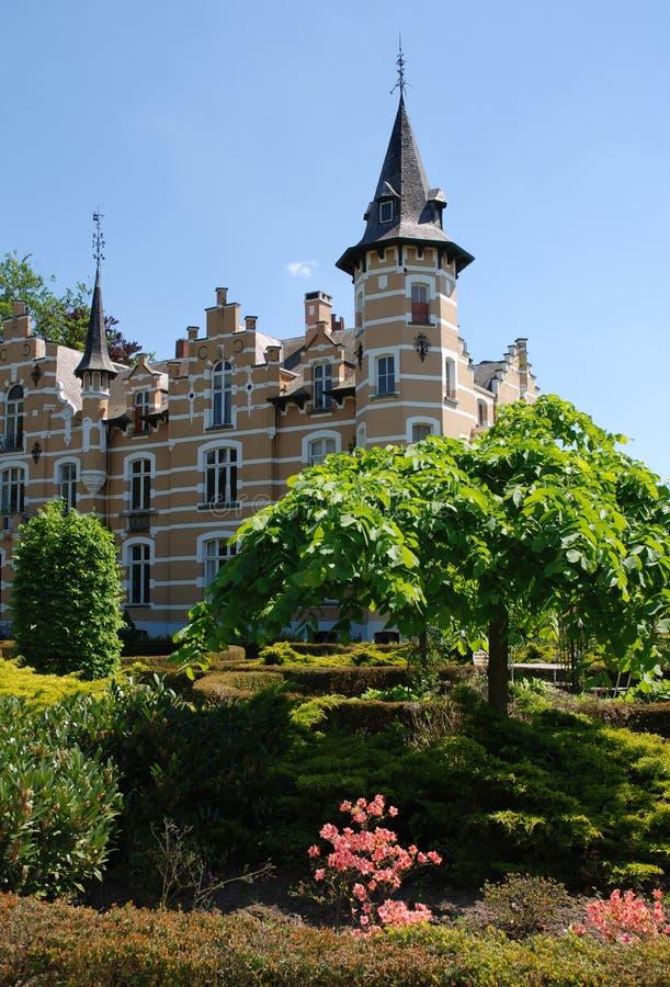 Castelo de Arcen - jardins modelo imagens de stock royalty free