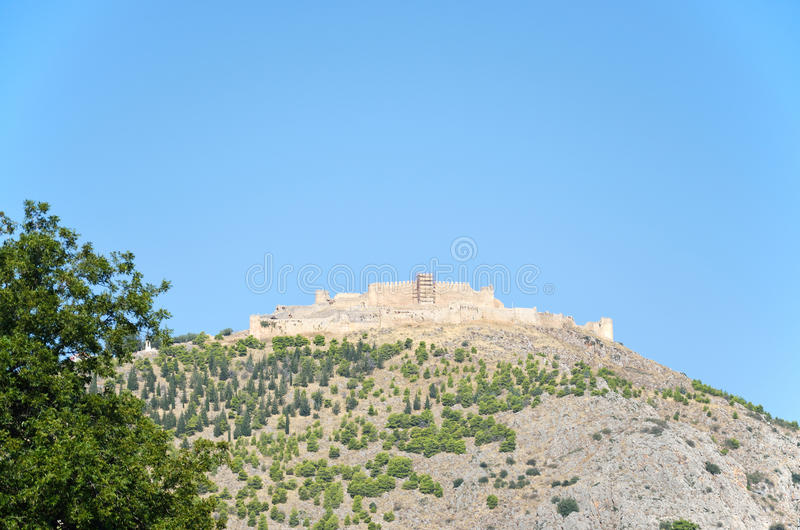 Castelo de Argos em Peloponnese, Grécia imagens de stock royalty free