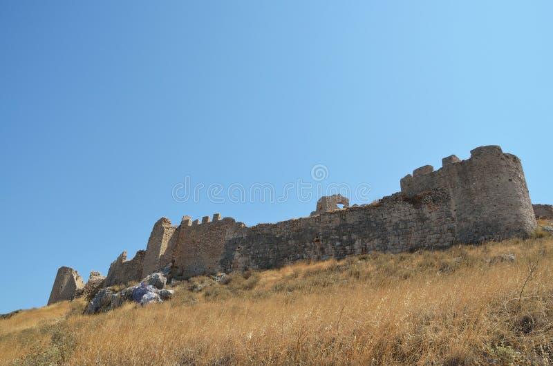 Castelo de Argos em Peloponnese, Grécia imagem de stock