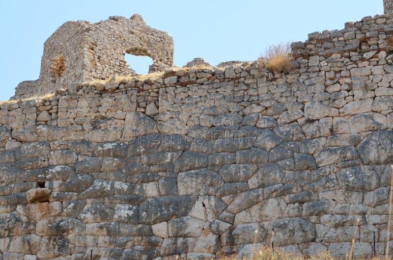 Castelo de Argos em Peloponnese, Grécia fotografia de stock