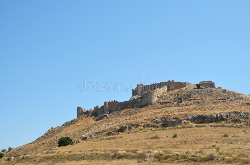 Castelo de Argos em Peloponnese, Grécia fotos de stock royalty free