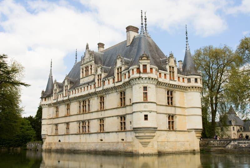 Castelo de Azay Le Rideau imagem de stock
