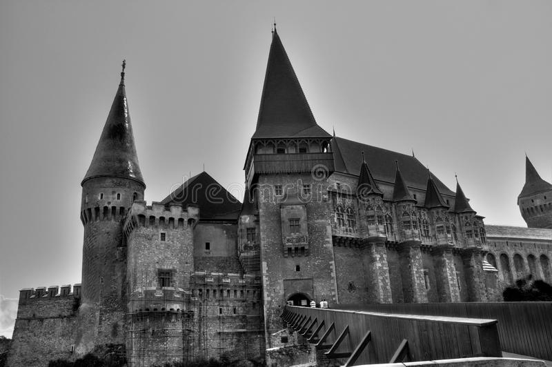 Castelo de B&W fotografia de stock
