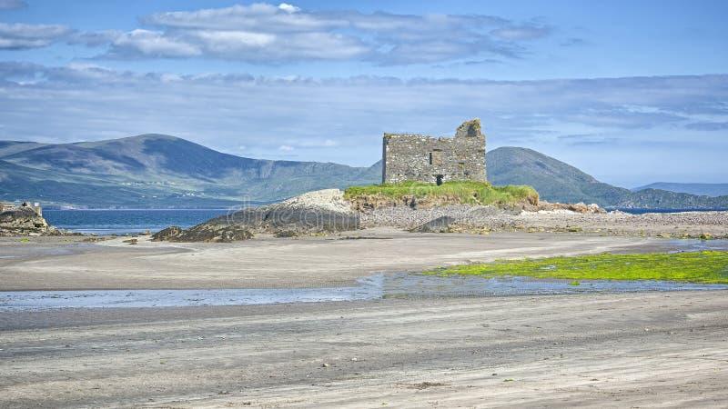 Castelo de Ballinskelligs foto de stock royalty free