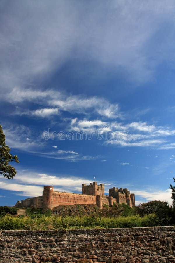Castelo de Bamburgh imagens de stock