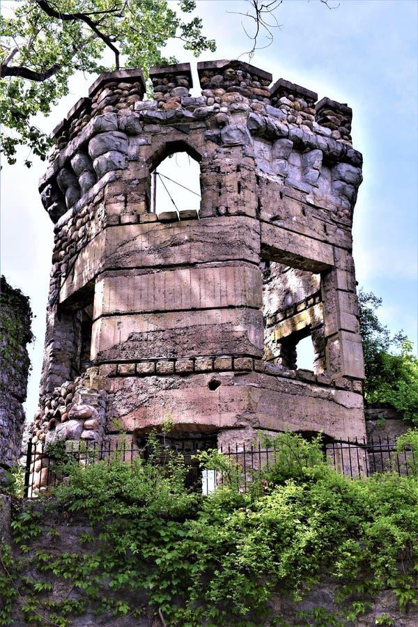 Castelo de Bancroft, cidade de Groton, o Condado de Middlesex, Massachusetts, Estados Unidos imagem de stock royalty free