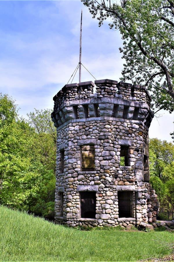 Castelo de Bancroft, cidade de Groton, o Condado de Middlesex, Massachusetts, Estados Unidos fotografia de stock royalty free