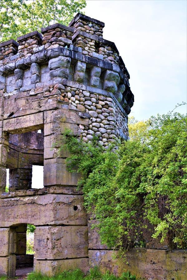Castelo de Bancroft, cidade de Groton, o Condado de Middlesex, Massachusetts, Estados Unidos imagens de stock royalty free