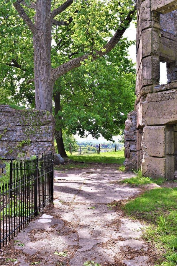 Castelo de Bancroft, cidade de Groton, o Condado de Middlesex, Massachusetts, Estados Unidos foto de stock royalty free