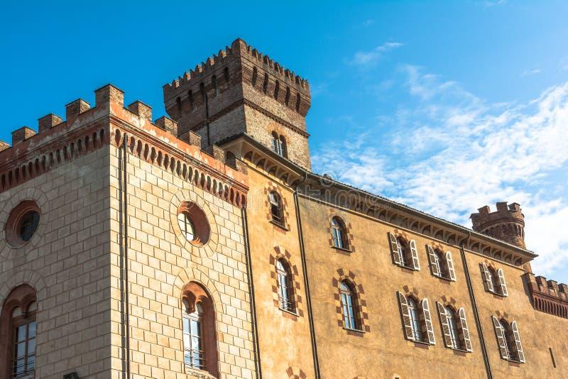 Castelo de Barolo, Itália fotos de stock royalty free