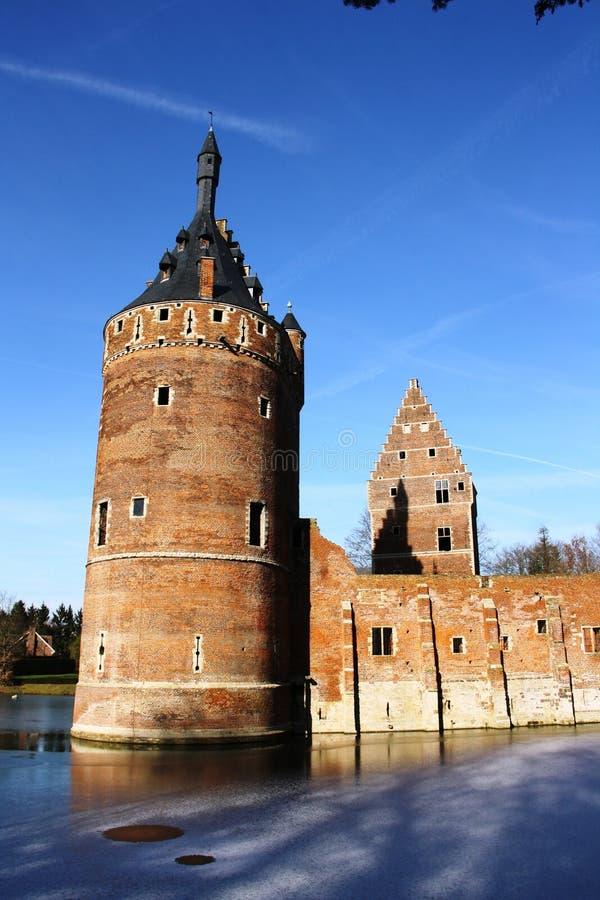 Castelo de Beersel (Bélgica) foto de stock