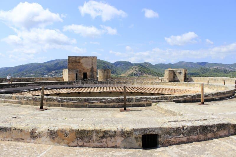 Castelo de Bellver em Palma de Mallorca foto de stock royalty free