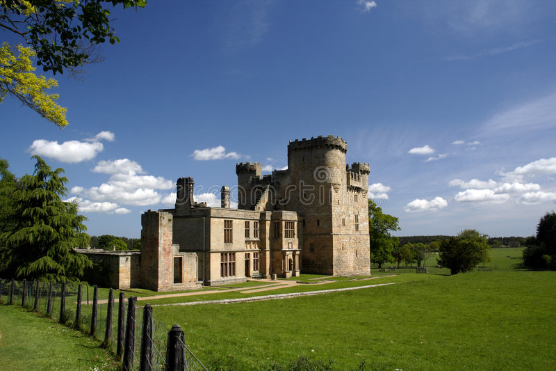 Castelo de Belsay foto de stock