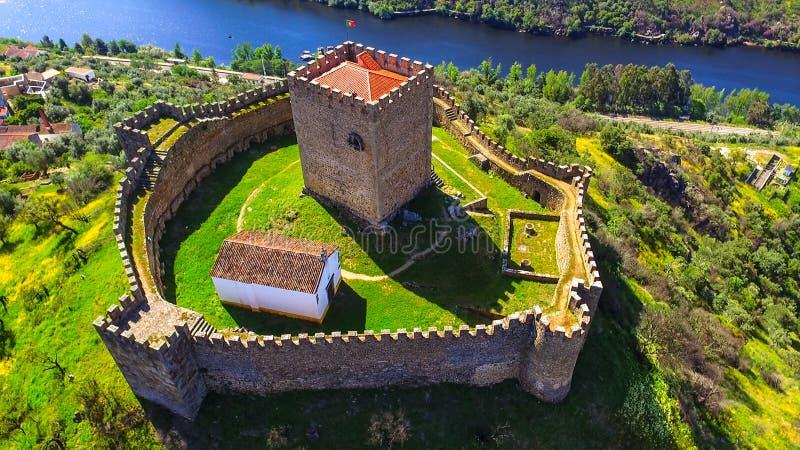 Castelo de Belver - Muralhas -城堡 图库摄影