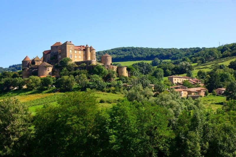 Castelo De Berze, Borgonha, França fotografia de stock royalty free
