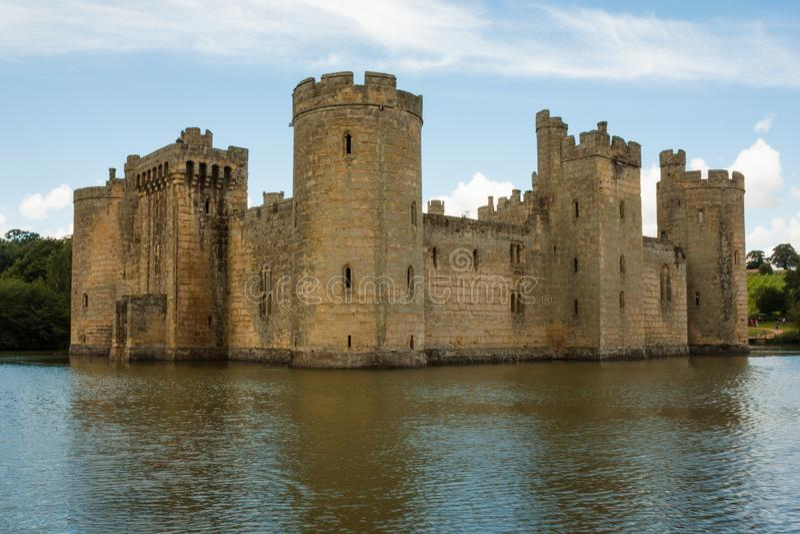Castelo de Bodiam, Bodiam, Kent, Reino Unido foto de stock royalty free