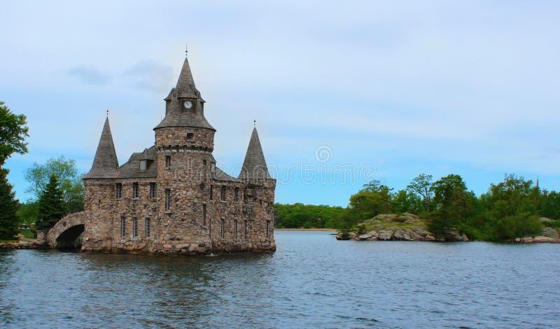 Castelo de Boldt, ilha do coração, mil ilhas em Canadá fotos de stock