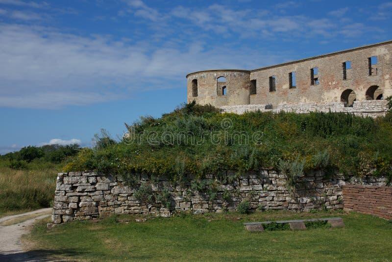 Castelo de Bornholm fotos de stock royalty free