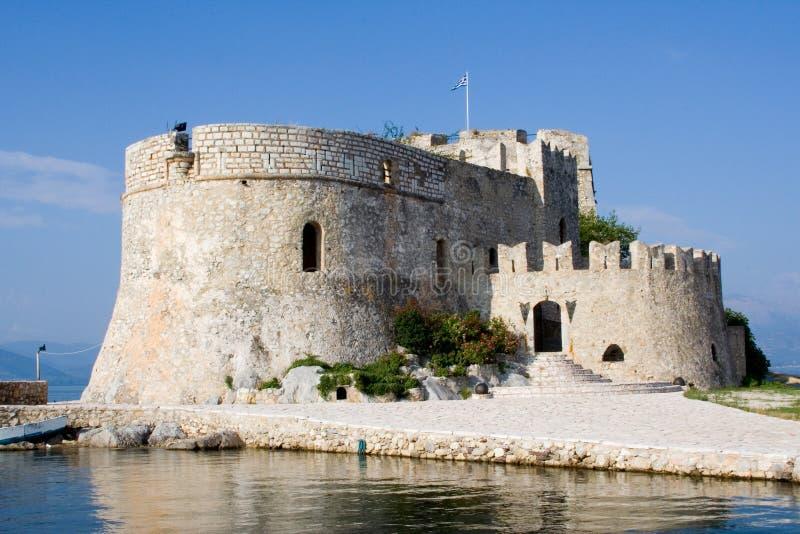Castelo de Bourtzi no nafplion greece fotografia de stock