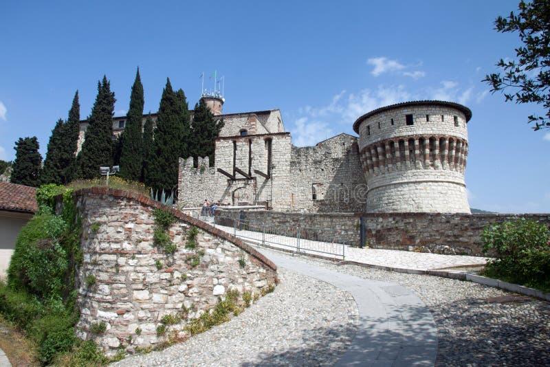 Castelo de Bríxia, Itália imagem de stock royalty free