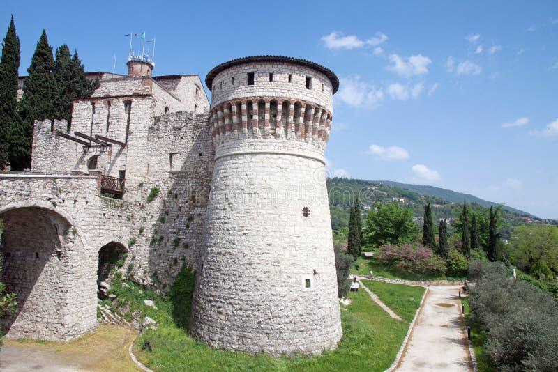 Castelo de Bríxia, Itália fotografia de stock