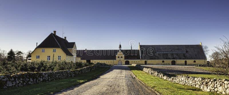 Castelo de Brahetrolleborg a oeste de Faaborg, Dinamarca fotografia de stock royalty free