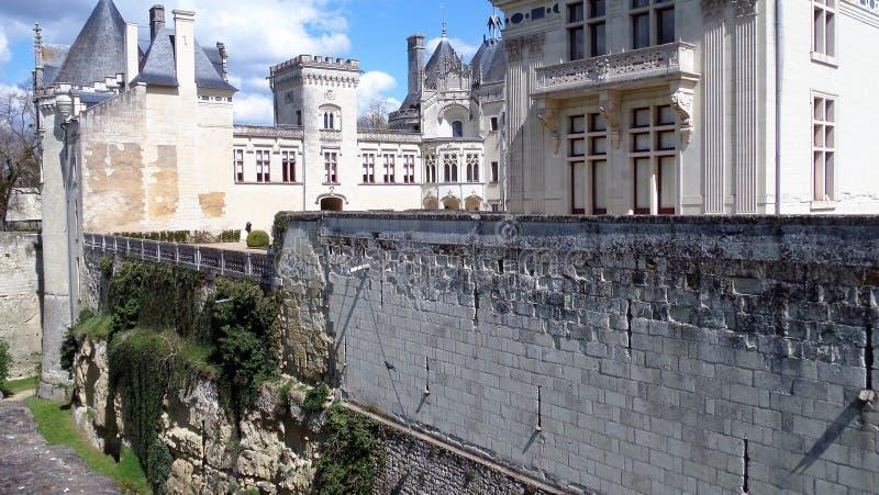 Castelo Castelo de Breze no Loire Valley França fotos de stock royalty free