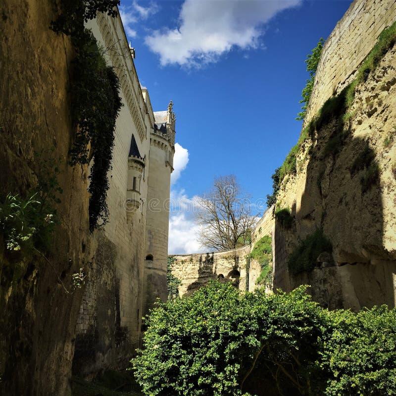 Castelo Castelo de Breze no Loire Valley França imagem de stock